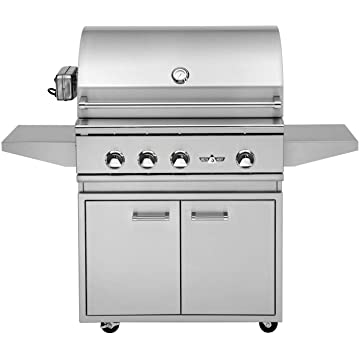 best selling Delta Heat Grill on Cabinet with Infrared Rotisserie and Sear Zone