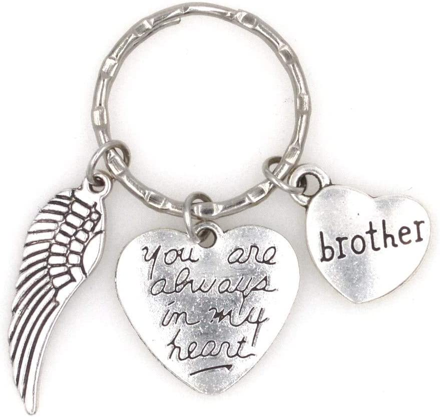 You are Always in My Heart Angel Wing Aunt Keychain 107F