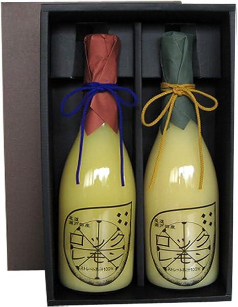 レモン果汁 100% ストレートジュース 無添加 国産 720ml×2本 広島県 瀬戸田産 有機レモン ギフト