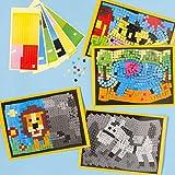 Ilustraciones de animales para decorar con mosaicos, 4 diseños variados de adhesivos para que los niños decoren (pack de 4).
