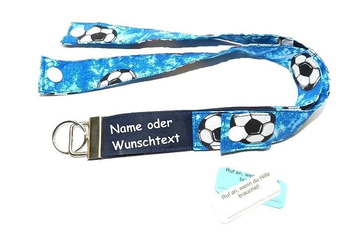Schlusselband Sos Personalisierbar Fussball Geschenk Fur Schulkinder