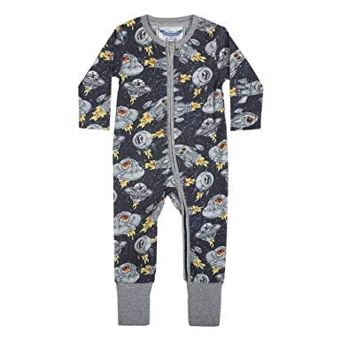 003b55cb4480 Image Unavailable. Image not available for. Color  Little Wings Dogs in Space  Organic Cotton Romper