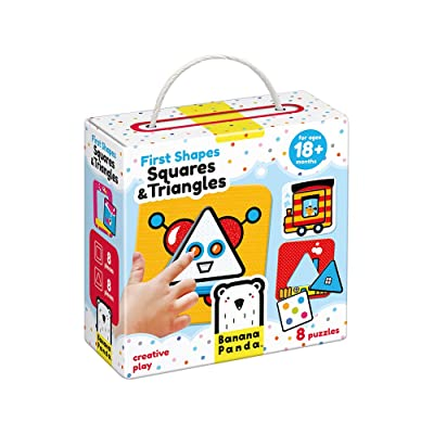 Banana Panda - First Shapes Squares and Triangles - Beginner Puzzle Set and Learning Activity for Kids Ages 18 Months and Up: Toys & Games