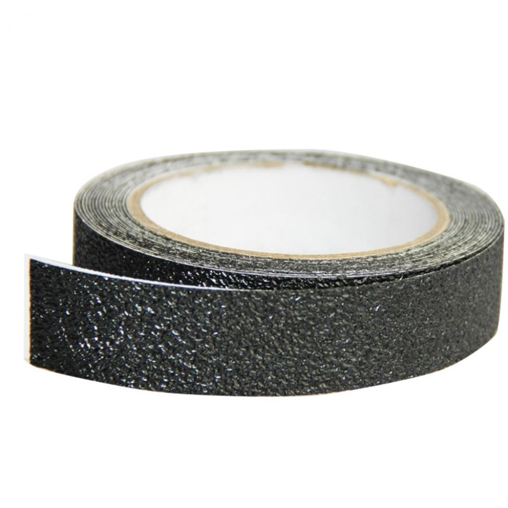 500cm Noir Safe antid/érapant de salle de bain Escalier piscine DIY avertissement Bande Ruban adh/ésif autocollant Longyitrade 2.5