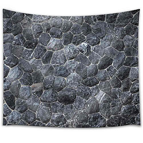. Black Stone Texture Fabric Wall