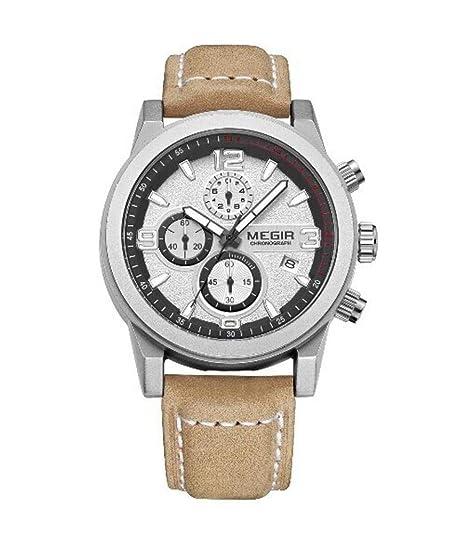 North King Reloj de Cuarzo Relojes Fecha Pantalla Hombres Tres diales Luminoso Impermeable Reloj Deportivo Relojes