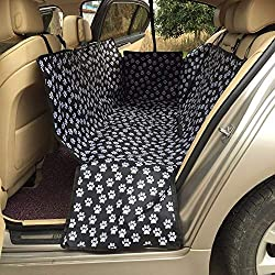 Dominich Wilson Dog Carriers - Pet Carriers Oxford Fabric Paw Pattern Car Pet Seat Covers Waterproof Back Bench Seat Travel Accessories Car Seat Covers Mat 1 PCs