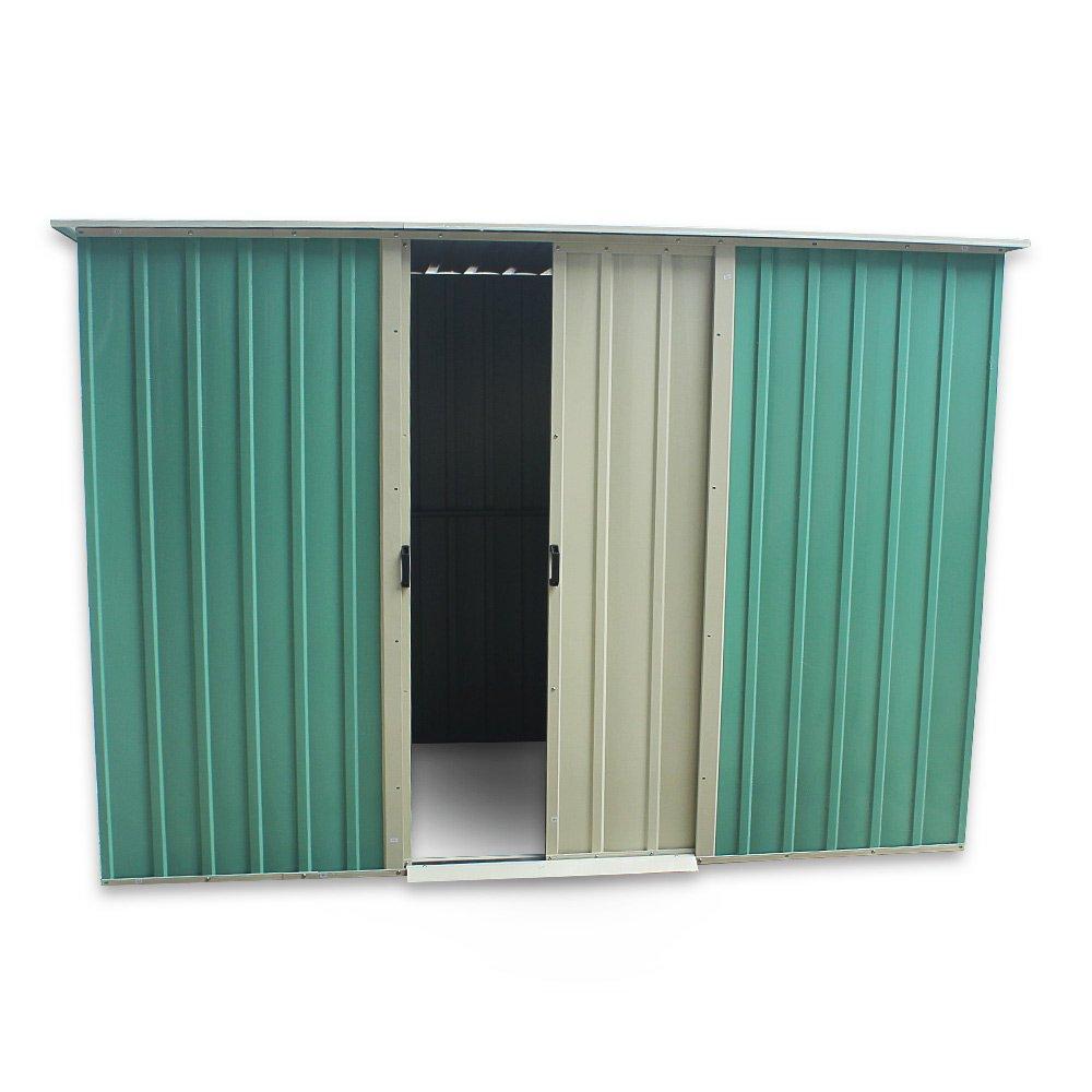 Keinode - Caseta de jardín de Metal para cobertizo, Acero galvanizado, superposición, Techo, Fieltro, Incluye Suelo: Amazon.es: Jardín