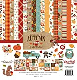 Echo Park Paper Company CAU158016 Celebrate Autumn Collection Kit Paper, Orange, Yellow, Blue, Brown, Tan
