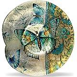 "Angelstar 19174 Radiant Butterflies Round Plate, 12"""