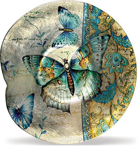 AngelStar 19174 Radiant Butterflies Round Plate, 12