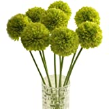 Outtop 5 Pcs 19.7 Inch hydrangea Ball Artificial Flowers Bouquets Real Touch Fake Flower for Home and Wedding Decoration (Green)