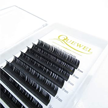cdab476cd99 Quewel lash 0.10 Thickness C Curl 9mm Eyelash Extensions Individual  Building False Eyelashes Extensions Professional Salon
