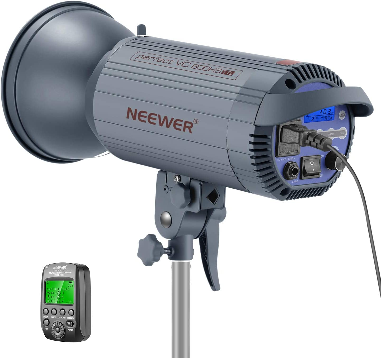 Neewer 600W TTL HSS 1/8000s GN86 Studio Strobe Flash Light Monolight with 2.4G Wireless Trigger for Sony Mirrorless Cameras,Recycle 0.6 Sec, Bowens Mount for Studio Portrait Photography(VC 600HS)