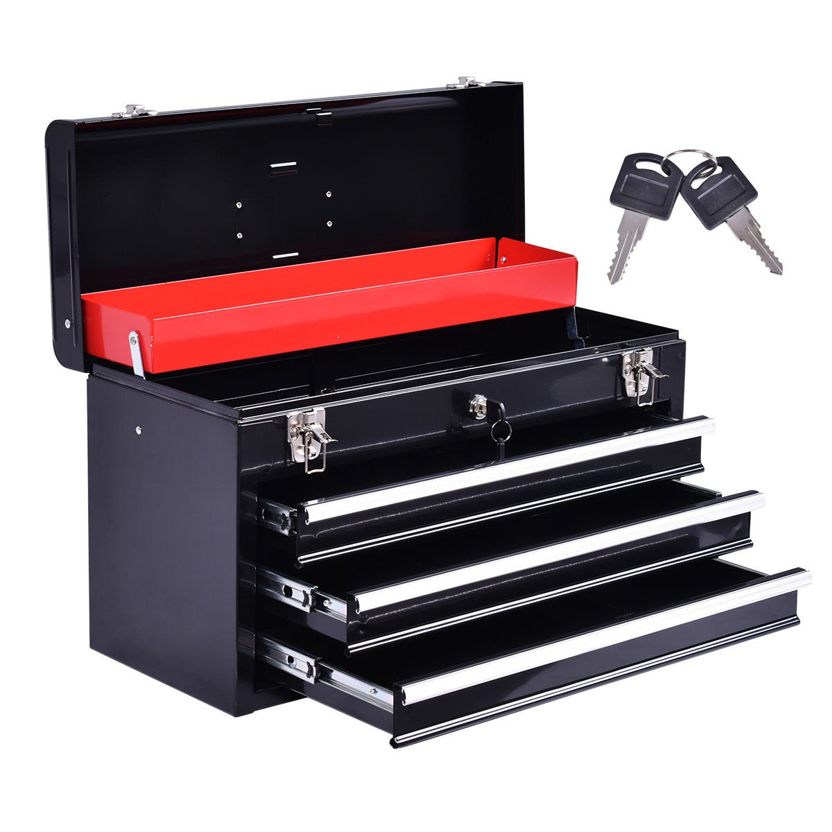 Portable Tool Chest Box Storage Cabinet Garage by Alitop