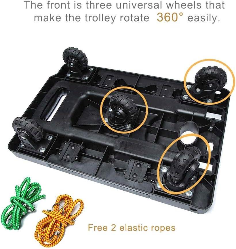 Cargo Handling Kampeaburr Folding Hand Truck 5-Wheel TPR Wheel 360/° Rotating Dolly Trolley Maximum Load-Bearing 330 LB Folding Hand Dolly can Shopping Business Travel Luggage more.