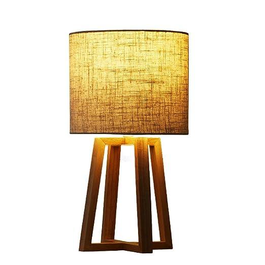 Lámparas de cabecera y de mesa, pantalla de tela, lámpara de ...