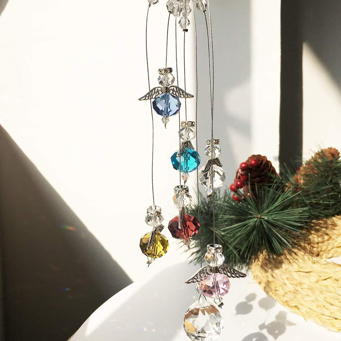 Dekoration f/ür Geburtstag Garten Fenster Party Sonnenf/änger mit Geschenkbox H/&D H/ängender Kristall-Kronleuchter Prismen-Anh/änger Kristalle