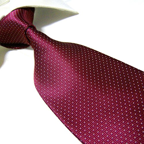 Extra Long Polyester Fashion Tie by Towergem,Microfibre Burgundy XL Men's Necktie