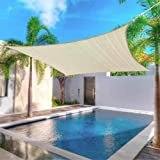 Modern Home Sail Shade Rectangle (20' x 20') - Beige