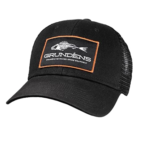 822489a32fb Amazon.com   Grundens Trucker Hat - Black - One Size fits All ...