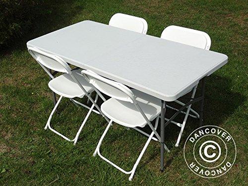 1 mesa plegable banquetes mesa (150 cm) + 4 sillas de comedor ...