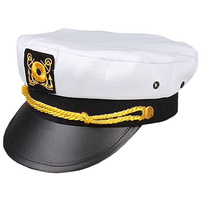 da3304d234125 Amazon.com  Rhode Island Novelty Adult Yacht Captain Hat  Clothing