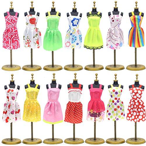 Vêtements De Poupée Sungpunet De Tenues De Robe De Soirée Et Accessoires Pour Barbie 117 Pièces - 19 Robes De Soirée Et 98 Accessoires Chaussures Cuisine Noël Anniversaire Support Cadeau Pour Fille