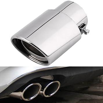 Baoblaze Dual-Outlet Endrohr Auspuff Schalld/ämpfer Endrohr TIPP Verl/ängerung Rohre
