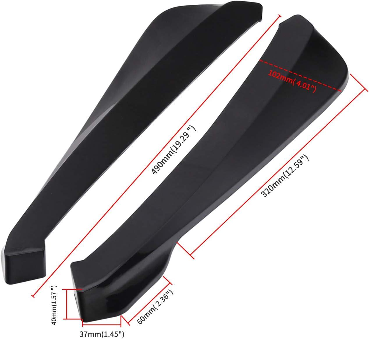 Rear Bumper Lip Splitter Car Body Spoiler Universal Car Side Fender Fins Body Lip Spoiler Chin Skirt Protector, Carbon Fiber Color