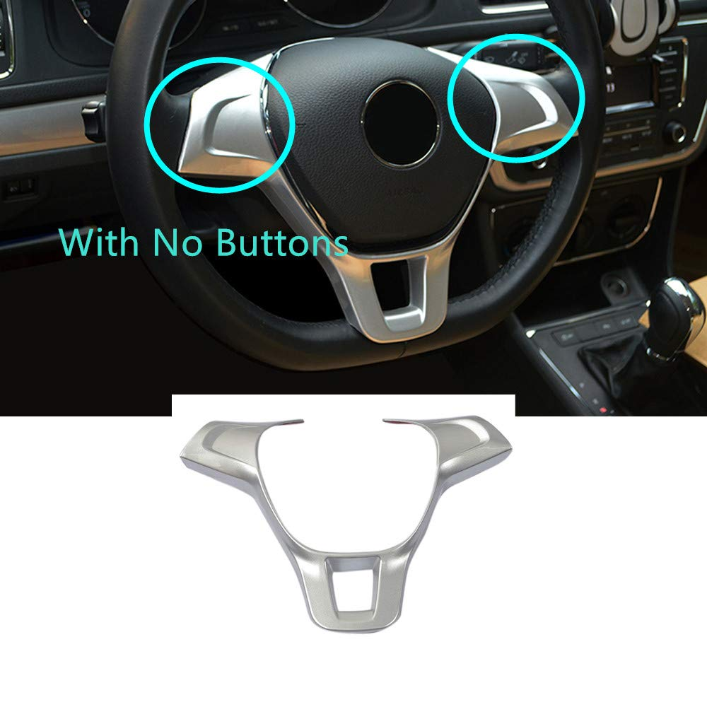 with Button Carbon Fiber Style YUZHONGTIAN Car Accessories Steering Wheel Cover Frame Decorative Trim ABS 1PC for VW Volkswagen Jetta MK6 2016 2017 2018 2019