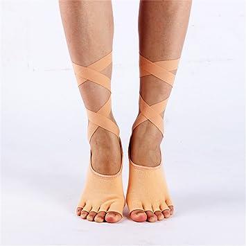 Maybesky Calcetines de Yoga Antideslizantes para el Vendaje ...