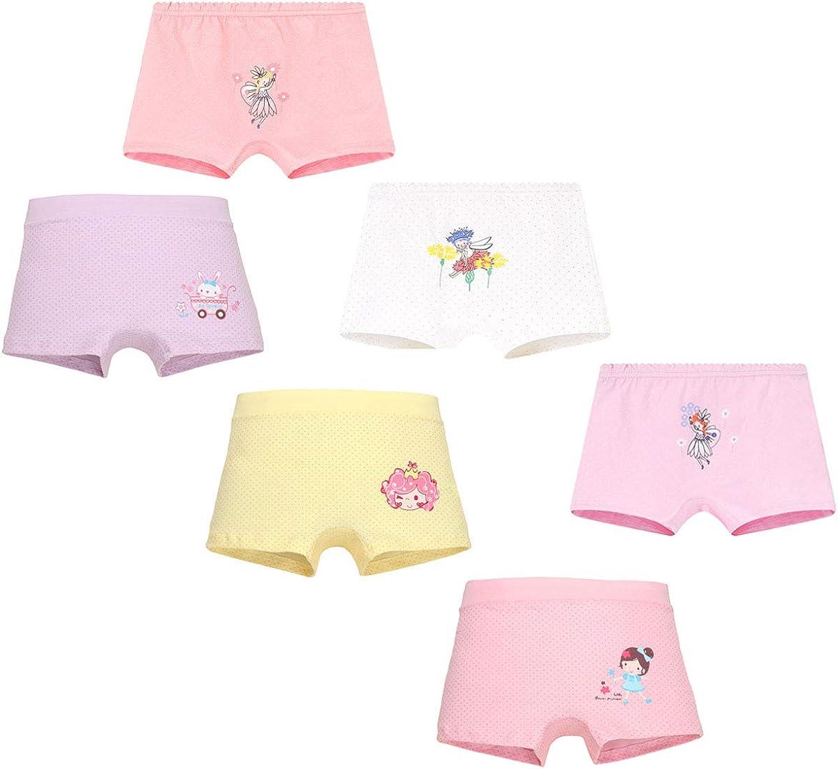 Allmeingeld Enfants Fille Lot de 5 Paires Slip 100/% Coton Imprim/é Sorci/ère Rose sous-v/êtement Taille 2-9ans