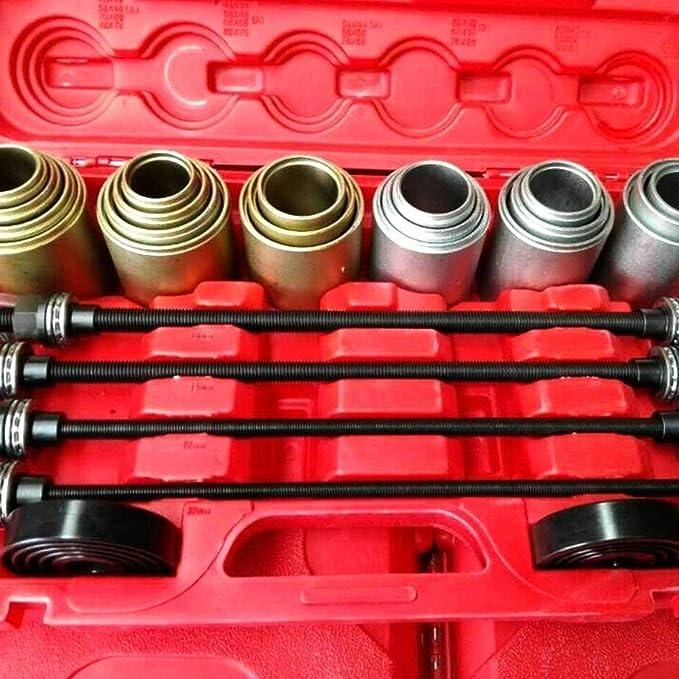 Minus One 26tlg Radlager Ausdrücker Werkzeug Druckhülsen Gummibuchsen Abzieher Demontage Satz Universal Kfz Ausbau Wechsel Montage Kit Auto