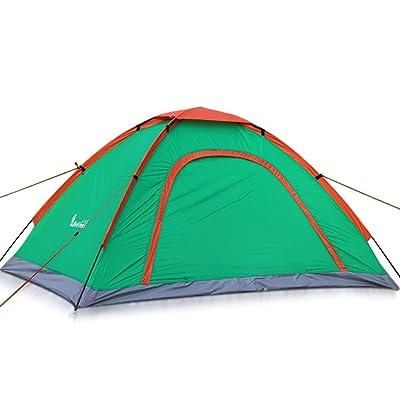 2 Personnes Double Single Layer Tente de camping en plein air Ventilation et ventilation Double porte intérieure