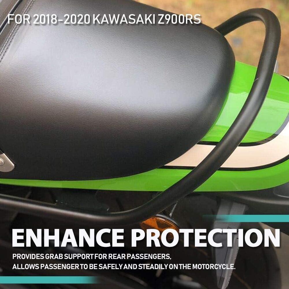 Für Z900 Rs Motorrad Motorrad Chrom Große Breite Hintere Stoßstange Beifahrersitz Griff Griff Haltegriff Schienen Warenregal Lagerregal Für Kawasaki Z900rs Z 900rs 2018 2021 2019 2020 Chrom Auto