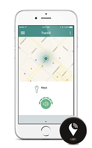 TrackR pixel - Bluetooth Tracking Device  Key Tracker  Phone Finder  Wallet  Locator - Black, Gray, White (3 Pack)