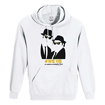 Roly Sudadera Blanca uomo-Donna Unisex Fruit of The Loom - The Blues Brothers: Amazon.es: Deportes y aire libre