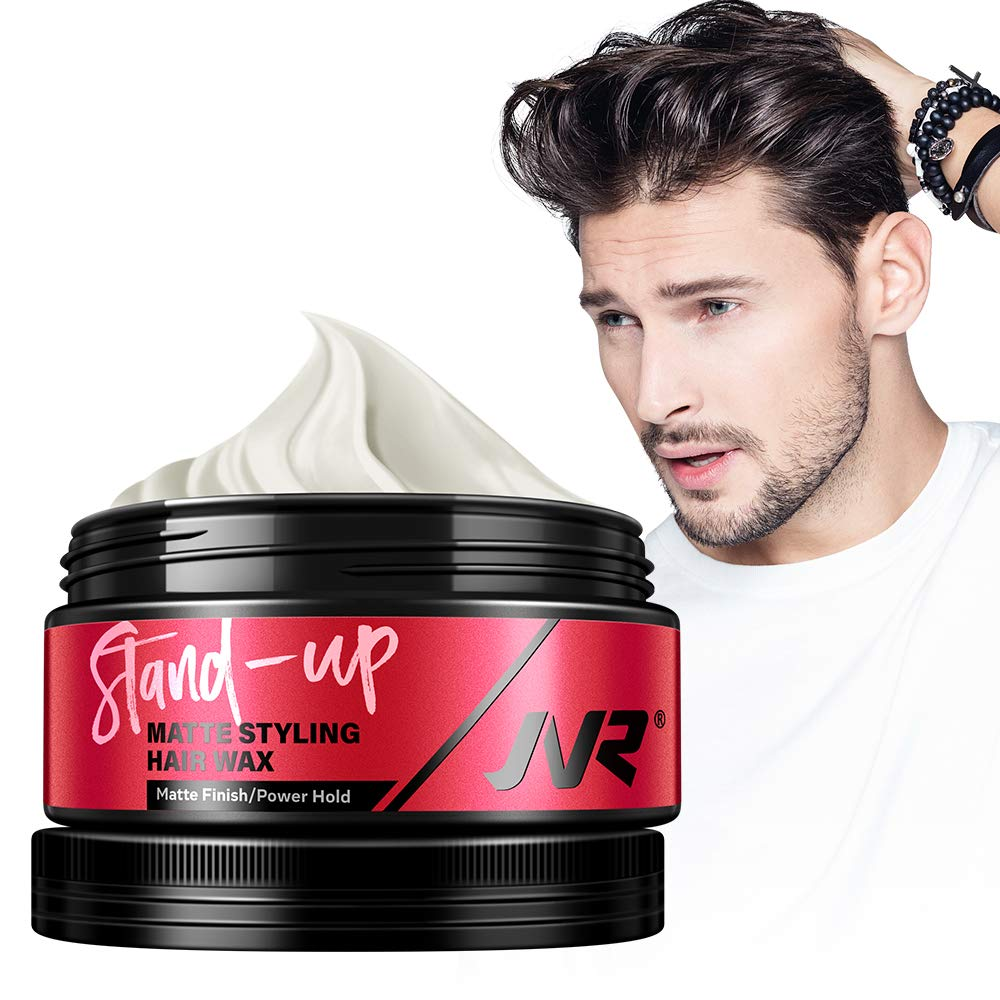 Amazon Com Hair Wax For Men Jvr Hair Styling Clay For All Hair Styles Matte Finish Cream Promade Strong Hold Natural Look Without Shine 2 82oz Beauty