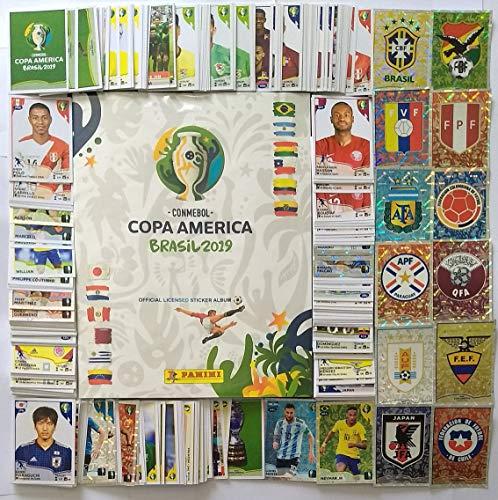 HARDCOVER PANINI COPA AMERICA 2019 Collection Complete Stickers + Album