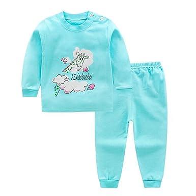 e08454b73 Hzjundasi 2Pcs Little Kids Toddler Boys Girls Printing Pajamas Set ...