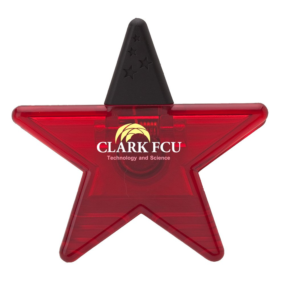 Star Memo Holder Magnet - 400 Quantity - $1.25 Each - PROMOTIONAL PRODUCT / BULK / BRANDED with YOUR LOGO / CUSTOMIZED