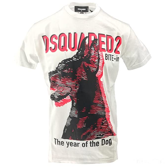 900fc1f65c Dsquared2 Dsquared T-Shirt Dog Uomo Stampa Cane Dobermann Cotone ...