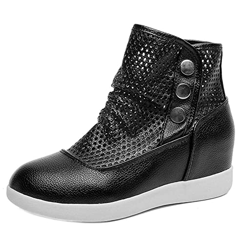 Btruely Herren Botines Mujer Tacon Medio Planos Invierno Tacon Ancho Piel Botas Botita Moda 3cm Casual Planas Zapatos Ankle Boots 35-40: Amazon.es: Zapatos ...