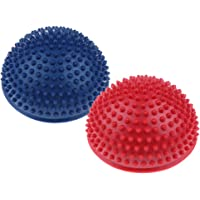 Perfeclan Pack of 2 Kids Stepping Balance Pods - Anti-Slip Hedgehog Stability Disc - Exercise Fun, Great for Home and School Use - Blue & Red