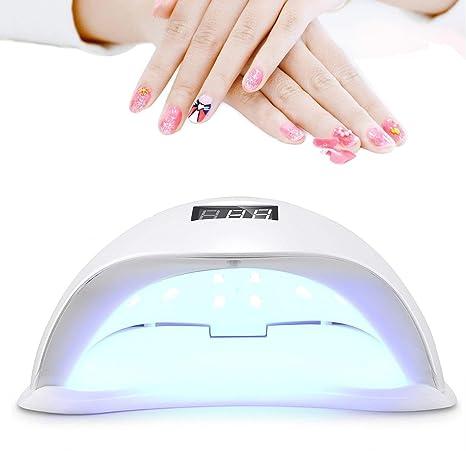 Roleadro Profesional - Lámpara UV y LED para uñas, secador de uñas con 4 temporizadores