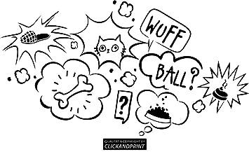 Clickandprint Aufkleber Gedanken Deines Hundes 30x16 4cm Schwarz