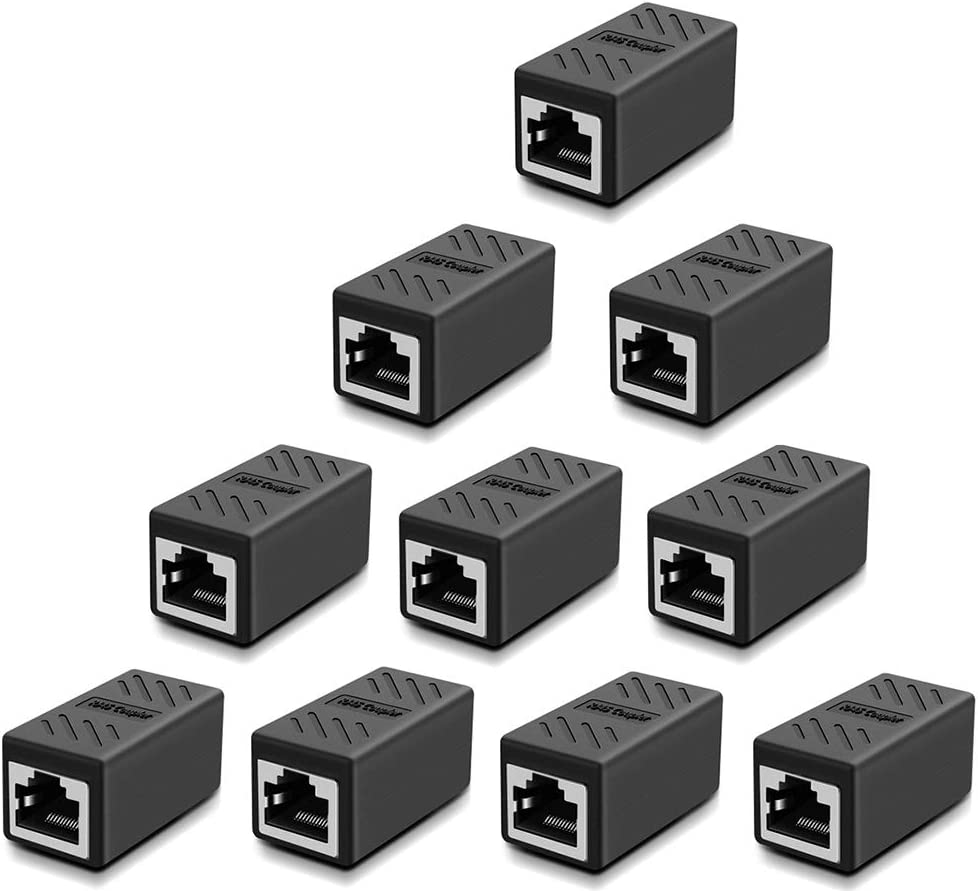 LEENUE 2 Pack Waterproof RJ45 Coupler Cat6//Cat5E//Cat5 Connector IP67 Shielded Ethernet LAN Cable Extender Female to Female