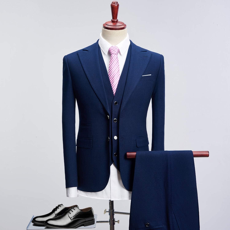 f pump dress suit men 2018 slim fit 3 piece groom wedding suits for men black blue mens business suits blue xl at amazon men s clothing store f pump dress suit men 2018 slim fit 3