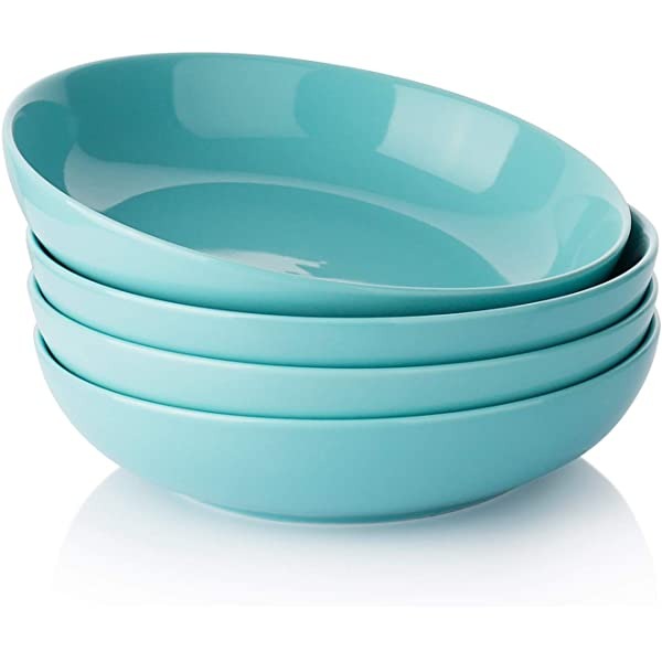 Cool Assorted Colors Sweese 124.003 Porcelain Salad Pasta Bowls Set of 6 30 Ounce